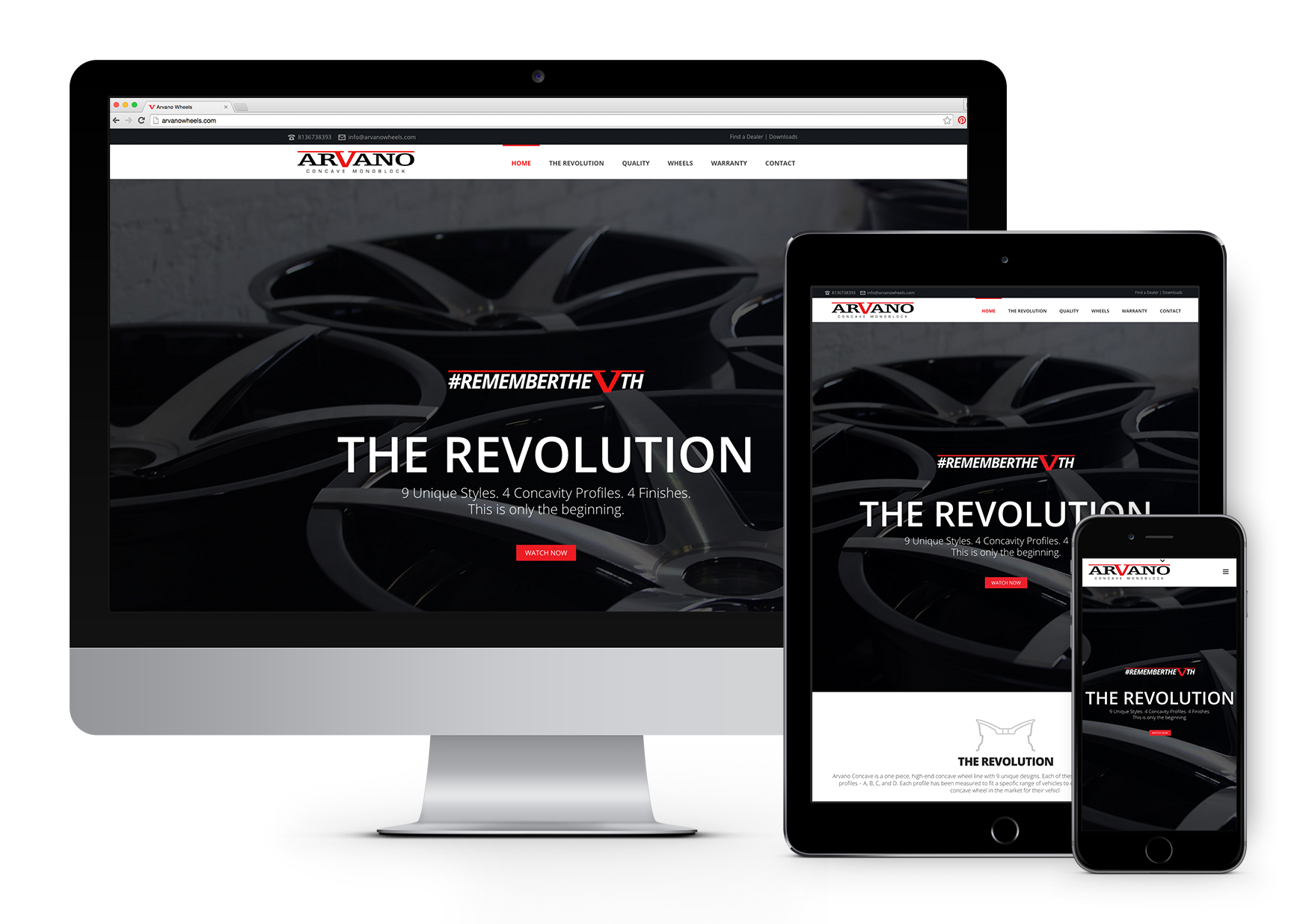 Arvano Concave Responsive Website Design