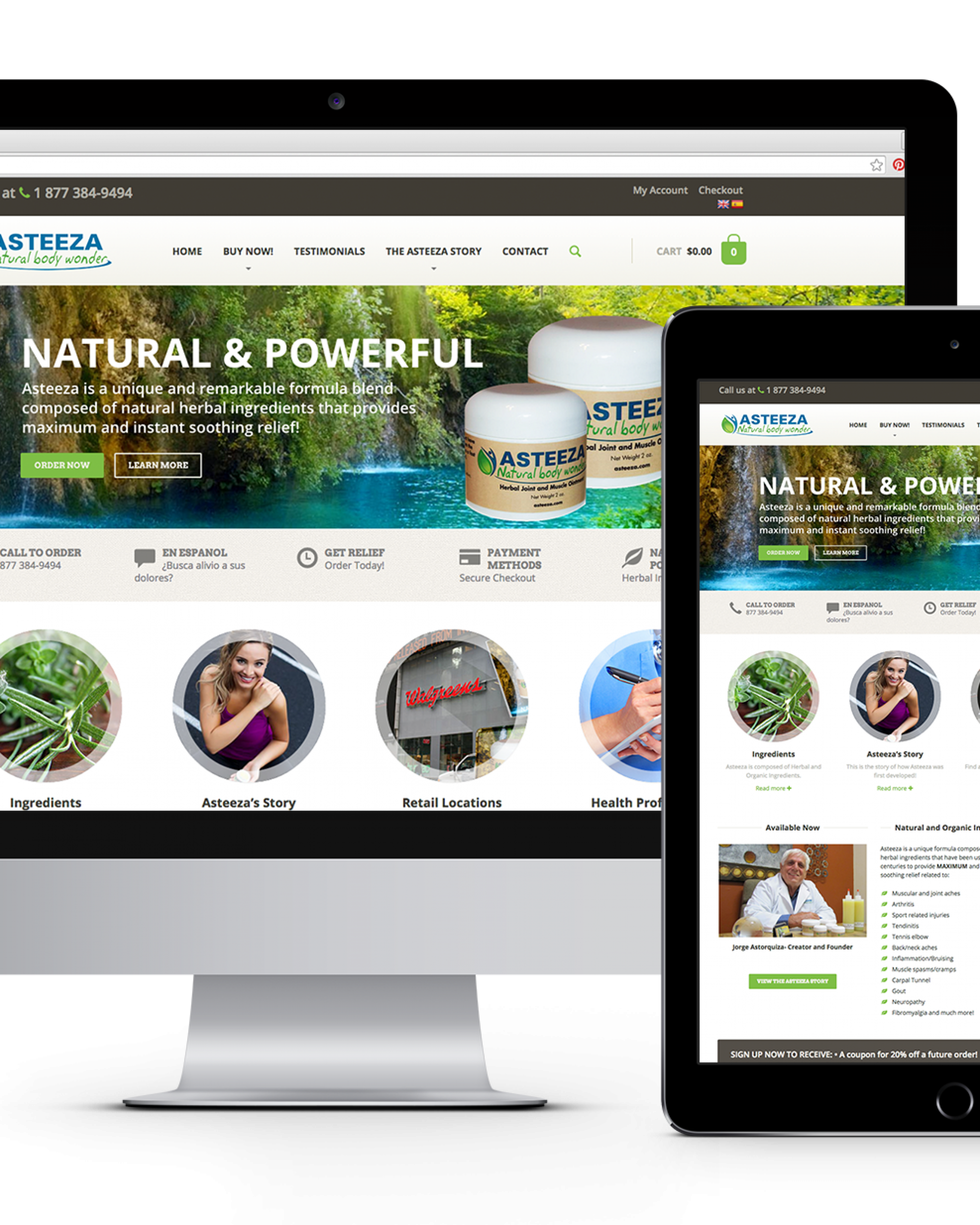 Asteeza Responsive Website Design