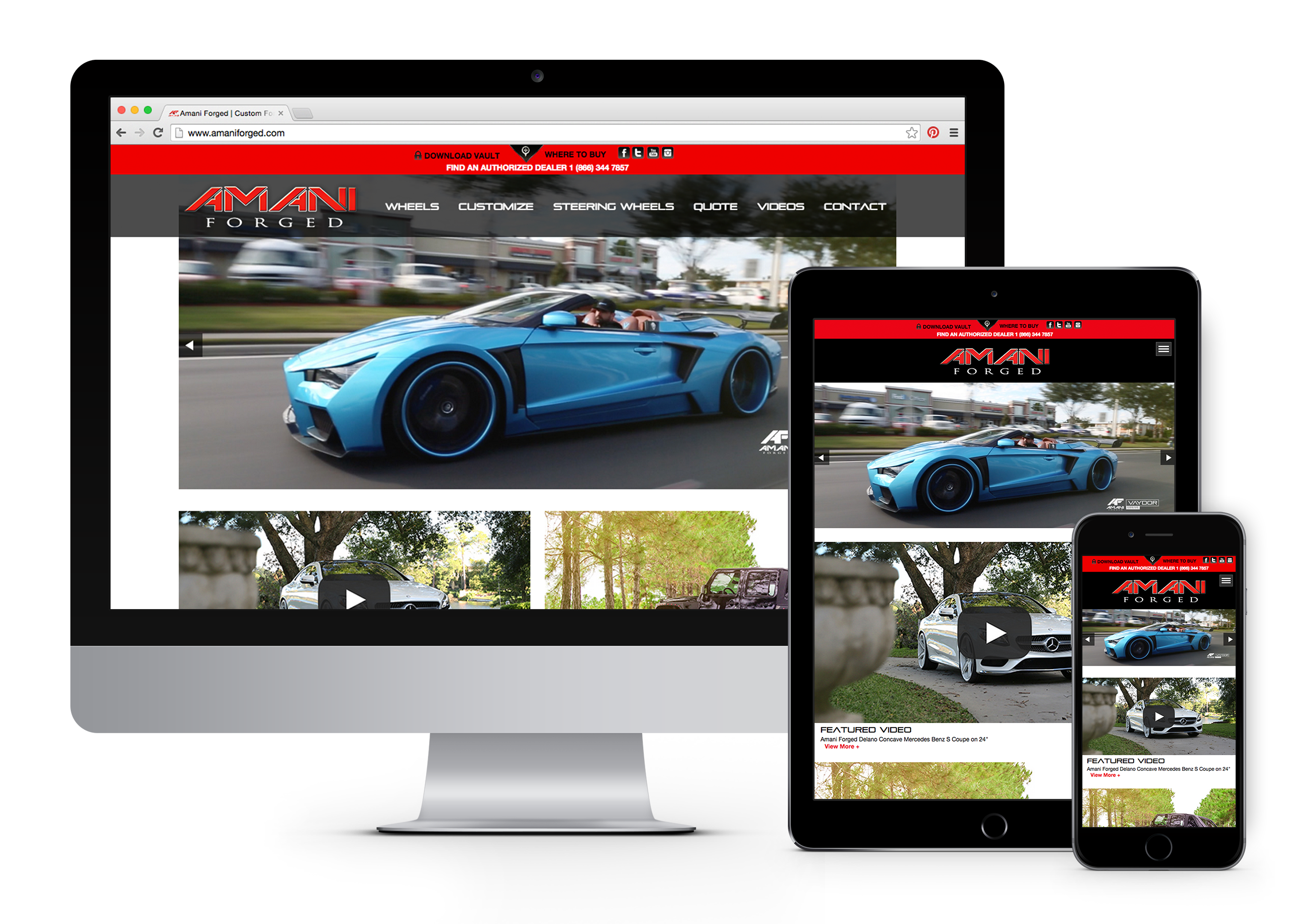 Amani Forged Responsive Website Design