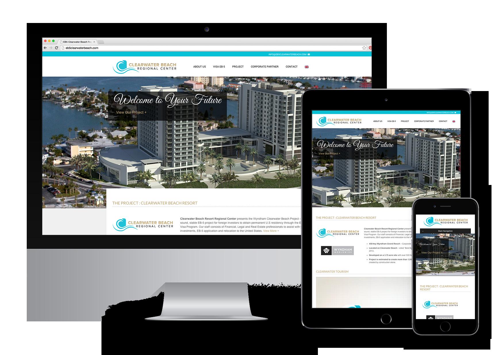 EB5 Clearwater Beach Regional Center Responsive Website Design