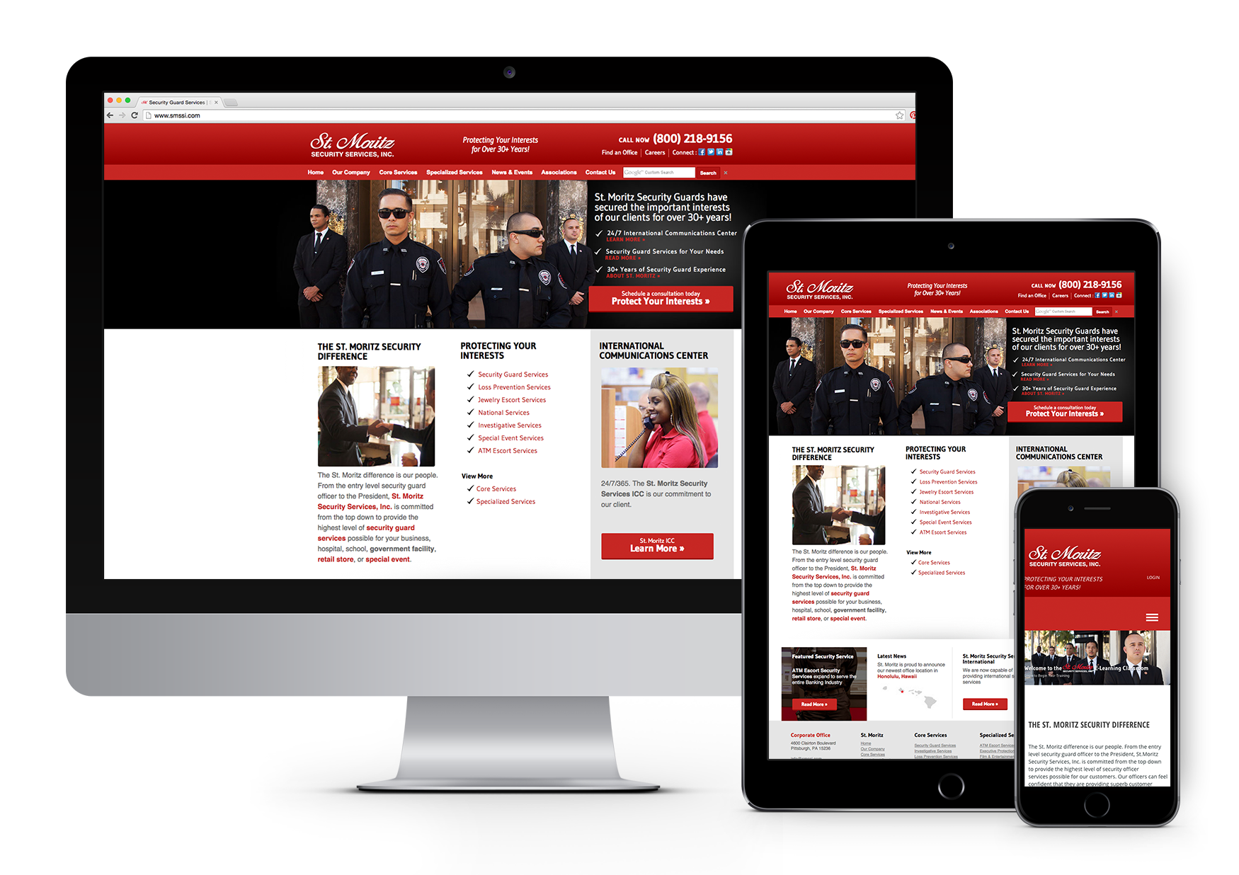 St. Mortiz Security Services, INC. Responsive Website Design